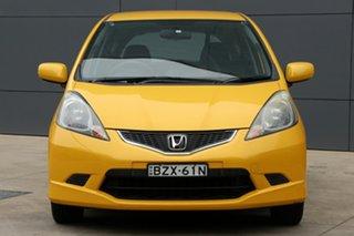2010 Honda Jazz GE MY11 VTi-S Yellow 5 Speed Manual Hatchback