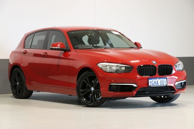 Used BMW 118i F20 LCI MY17 Sport Line, 2017 BMW 118i F20 LCI MY17 Sport Line Red 8 Speed Automatic Hatchback