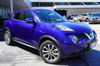 2017 Nissan Juke F15 Series 2 Ti-S X-tronic AWD Ink Blue 1 Speed Constant Variable Hatchback.