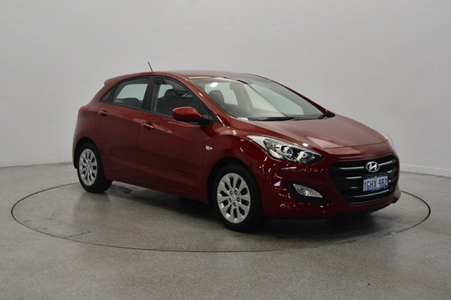 Used Hyundai i30 GD4 Series II MY17 Active, 2017 Hyundai i30 GD4 Series II MY17 Active Fiery Red 6 Speed Sports Automatic Hatchback