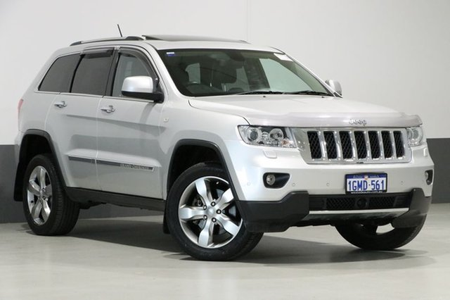 Used Jeep Grand Cherokee WK MY12 Overland (4x4), 2012 Jeep Grand Cherokee WK MY12 Overland (4x4) Silver 5 Speed Automatic Wagon