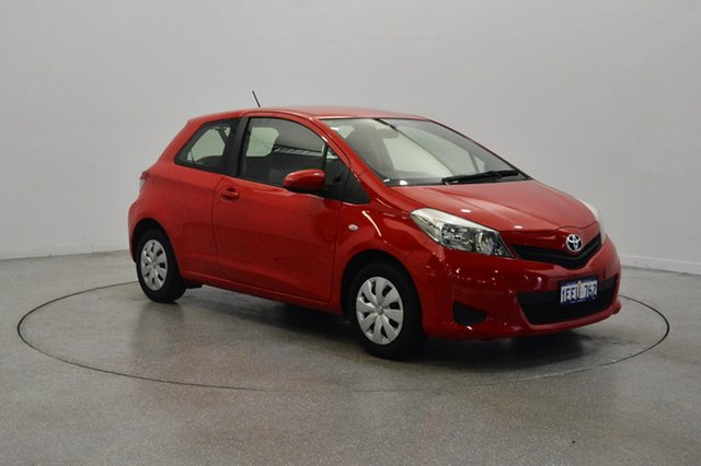 Used Toyota Yaris NCP130R YR, 2012 Toyota Yaris NCP130R YR Red 4 Speed Automatic Hatchback