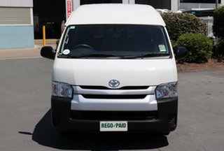 2016 Toyota HiAce TRH201R MY15 LWB French Vanilla 6 Speed Automatic Van.