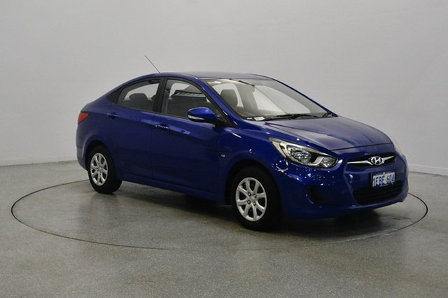 Used Hyundai Accent RB Active, 2012 Hyundai Accent RB Active Blue 4 Speed Sports Automatic Sedan