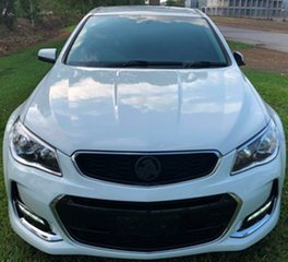 2016 Holden Commodore VF II MY16 SV6 White 6 Speed Automatic Sedan