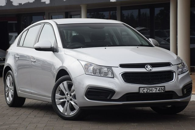 Used Holden Cruze  Equipe, 2015 Holden Cruze JH Series II MY Equipe Silver 6 Speed Sports Automatic Hatchback