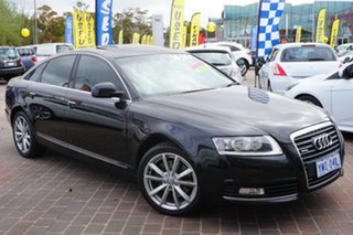 2008 Audi A6 4F MY09 Tiptronic Quattro Black 6 Speed Sports Automatic Sedan.