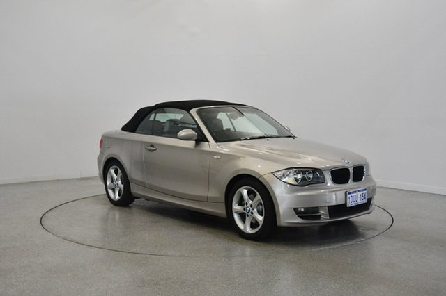 Used BMW 120i E88 , 2008 BMW 120i E88 Gold 6 Speed Manual Convertible