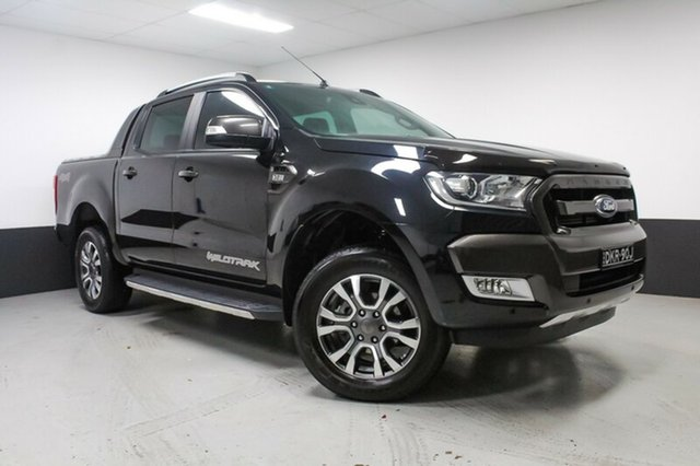 Used Ford Ranger PX MkII Wildtrak Double Cab, 2016 Ford Ranger PX MkII Wildtrak Double Cab Black 6 Speed Manual Utility