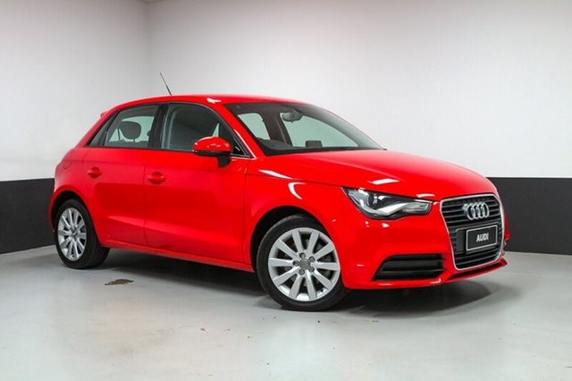 Used Audi A1 8X MY14 Attraction Sportback S tronic, 2015 Audi A1 8X MY14 Attraction Sportback S tronic Red 7 Speed Sports Automatic Dual Clutch