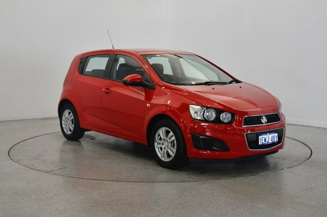 Used Holden Barina TM MY15 CD, 2015 Holden Barina TM MY15 CD Red 6 Speed Automatic Hatchback