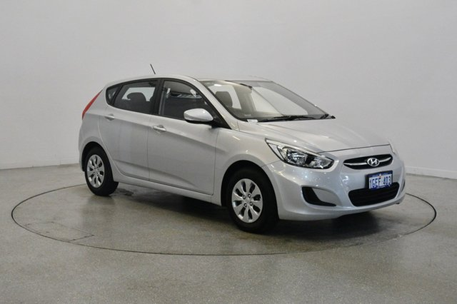 Used Hyundai Accent RB3 MY16 Active, 2016 Hyundai Accent RB3 MY16 Active Silver 6 Speed Constant Variable Hatchback