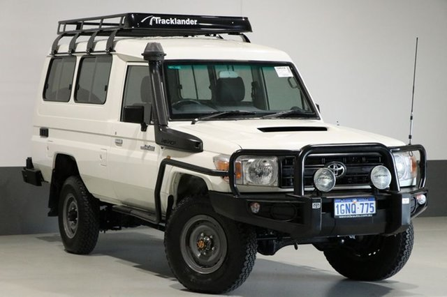 Used Toyota Landcruiser VDJ78R MY12 Update Workmate (4x4) 11 Seat, 2013 Toyota Landcruiser VDJ78R MY12 Update Workmate (4x4) 11 Seat White 5 Speed Manual TroopCarrier