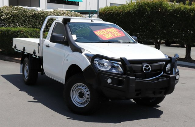 Used Mazda BT-50 UR0YG1 XT, 2017 Mazda BT-50 UR0YG1 XT Cool White 6 Speed Sports Automatic Cab Chassis