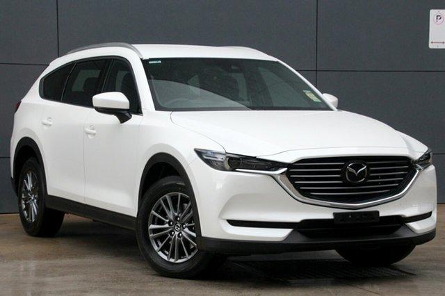 New Mazda CX-8 KG4W2A Sport SKYACTIV-Drive i-ACTIV AWD, 2018 Mazda CX-8 KG4W2A Sport SKYACTIV-Drive i-ACTIV AWD Snowflake White 6 Speed Sports Automatic