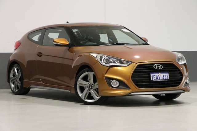 Used Hyundai Veloster FS MY13 SR Turbo, 2012 Hyundai Veloster FS MY13 SR Turbo Orange 6 Speed Manual Coupe