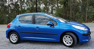 2007 Peugeot 207 A7 XT Blue 4 Speed Sports Automatic Hatchback.