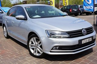 2015 Volkswagen Jetta 1B MY15 118TSI DSG Highline Silver 7 Speed Sports Automatic Dual Clutch Sedan.