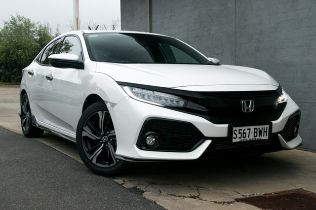 Demo Honda Civic 10th Gen MY18 RS, 2018 Honda Civic 10th Gen MY18 RS White Orchid 1 Speed Constant Variable Hatchback