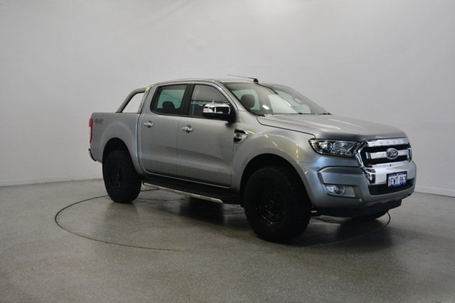 Used Ford Ranger PX MkII XLT Double Cab, 2015 Ford Ranger PX MkII XLT Double Cab Silver 6 Speed Manual Utility