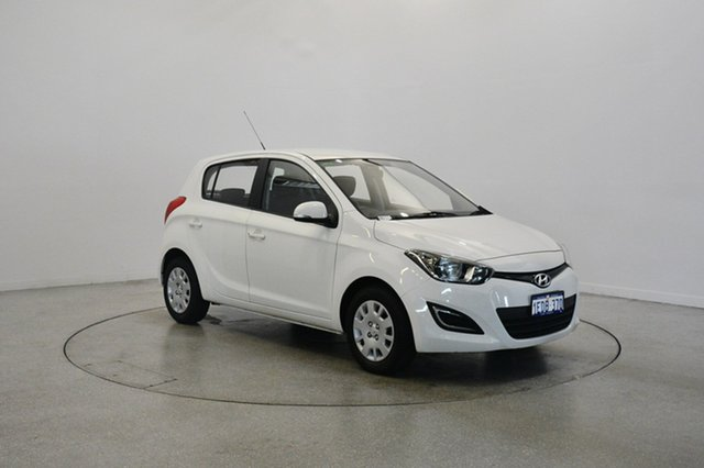 Used Hyundai i20 PB MY13 Active, 2013 Hyundai i20 PB MY13 Active Coral White 4 Speed Automatic Hatchback