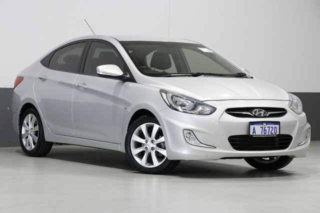 Used Hyundai Accent RB Premium, 2011 Hyundai Accent RB Premium Silver 4 Speed Automatic Sedan