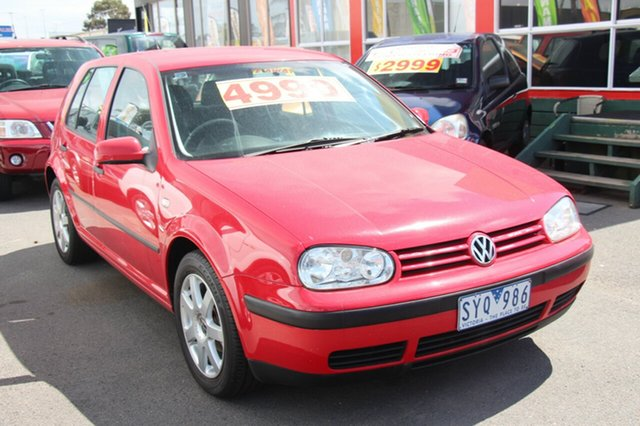 Used Volkswagen Golf  , 2002 Volkswagen Golf GL with RWC & REG Red 5 Speed Manual Hatchback