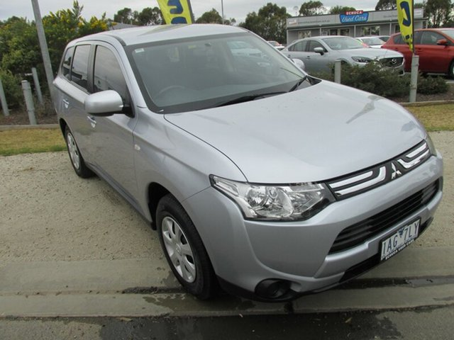 Used Mitsubishi Outlander ZJ MY13 ES 2WD, 2013 Mitsubishi Outlander ZJ MY13 ES 2WD Silver 6 Speed Constant Variable Wagon