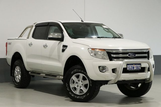 Used Ford Ranger PX XLT 3.2 (4x4), 2013 Ford Ranger PX XLT 3.2 (4x4) White 6 Speed Automatic Dual Cab Utility