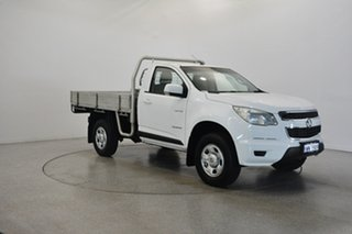 2014 Holden Colorado RG MY14 LX 4x2 White 6 Speed Manual Cab Chassis.