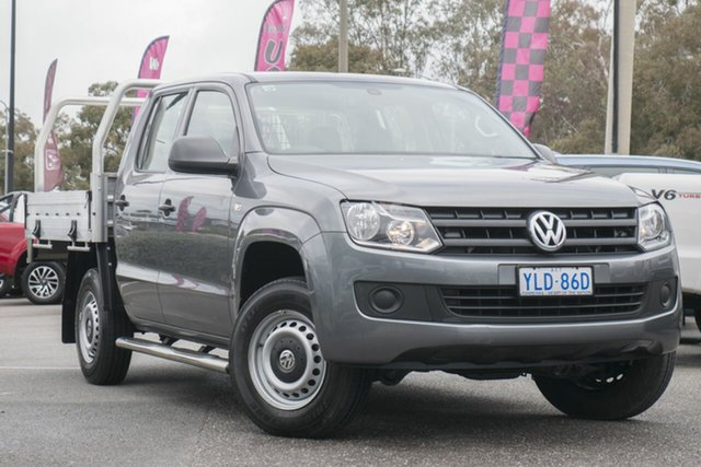 Used Volkswagen Amarok 2H MY16 TDI420 4x2, 2016 Volkswagen Amarok 2H MY16 TDI420 4x2 Natural Grey 8 Speed Automatic Utility
