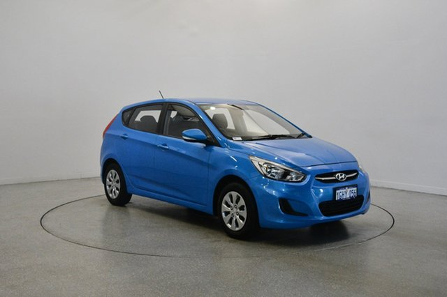Used Hyundai Accent RB4 MY17 Active, 2017 Hyundai Accent RB4 MY17 Active Blue Lagoon 6 Speed Constant Variable Hatchback