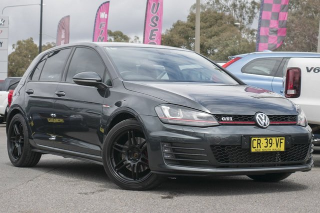 Used Volkswagen Golf VII MY16 GTi, 2015 Volkswagen Golf VII MY16 GTi Grey 6 Speed Manual Hatchback