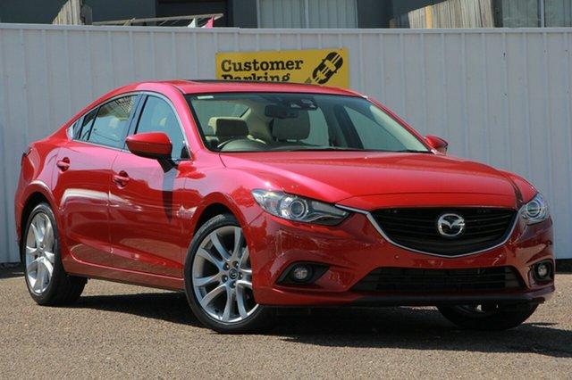 Used Mazda 6 GJ1032 Atenza SKYACTIV-Drive, 2014 Mazda 6 GJ1032 Atenza SKYACTIV-Drive Red 6 Speed Sports Automatic Sedan