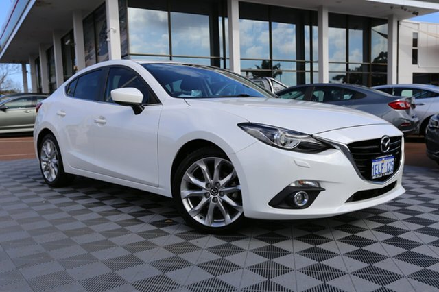 Used Mazda 3 BM5238 SP25 SKYACTIV-Drive GT, 2014 Mazda 3 BM5238 SP25 SKYACTIV-Drive GT White 6 Speed Sports Automatic Sedan