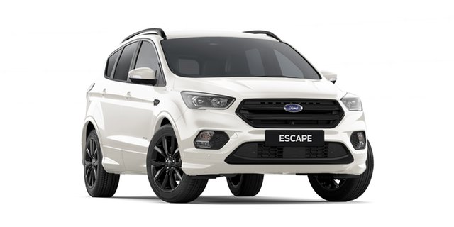 New Ford Escape ZG 2019.25MY ST-Line AWD, 2019 Ford Escape ZG 2019.25MY ST-Line AWD White Platinum 6 Speed Sports Automatic Wagon