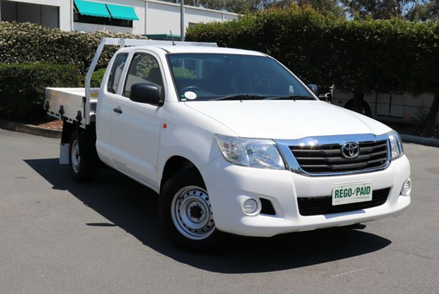 Used Toyota Hilux GGN15R MY14 SR Xtra Cab 4x2, 2014 Toyota Hilux GGN15R MY14 SR Xtra Cab 4x2 White 5 Speed Automatic Utility