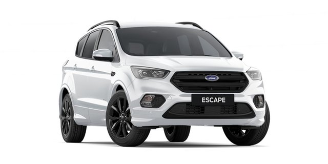 New Ford Escape ZG 2019.25MY ST-Line AWD, 2019 Ford Escape ZG 2019.25MY ST-Line AWD Frozen White 6 Speed Sports Automatic SUV