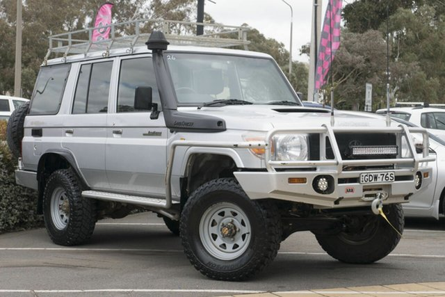 Used Toyota Landcruiser VDJ76R Workmate, 2008 Toyota Landcruiser VDJ76R Workmate Silver 5 Speed Manual Wagon