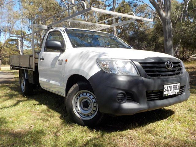 Used Toyota Hilux TGN16R MY14 Workmate 4x2, 2014 Toyota Hilux TGN16R MY14 Workmate 4x2 5 Speed Manual Cab Chassis
