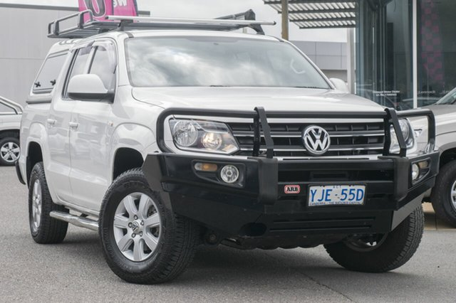 Used Volkswagen Amarok 2H MY12.5 TDI420 4Motion Perm Trendline, 2012 Volkswagen Amarok 2H MY12.5 TDI420 4Motion Perm Trendline Candy White 8 Speed Automatic Utility
