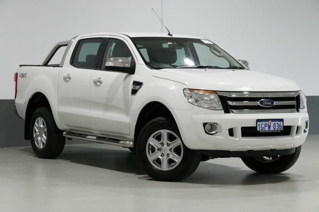 Used Ford Ranger PX XLT 3.2 (4x4), 2014 Ford Ranger PX XLT 3.2 (4x4) White 6 Speed Automatic Dual Cab Utility