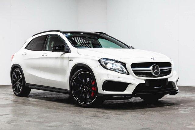 Used Mercedes-Benz GLA 45 AMG 4MATIC X156 806MY AMG SPEEDSHIFT DCT 4MATIC, 2015 Mercedes-Benz GLA 45 AMG 4MATIC X156 806MY AMG SPEEDSHIFT DCT 4MATIC White 7 Speed
