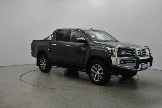 Used Toyota Hilux GUN126R SR5 Double Cab, 2017 Toyota Hilux GUN126R SR5 Double Cab Grey 6 Speed Sports Automatic Utility