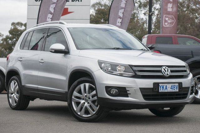 Used Volkswagen Tiguan 5N MY12 155TSI DSG 4MOTION, 2011 Volkswagen Tiguan 5N MY12 155TSI DSG 4MOTION Silver 7 Speed Sports Automatic Dual Clutch Wagon