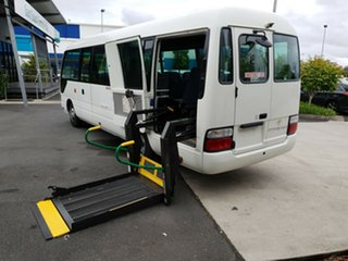 2010 Toyota Coaster XZB50R WHEEL CHAIR BUS White Bus.