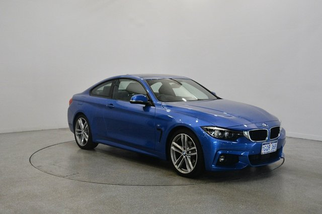 Used BMW 420i F32 M Sport, 2017 BMW 420i F32 M Sport Blue 8 Speed Sports Automatic Coupe