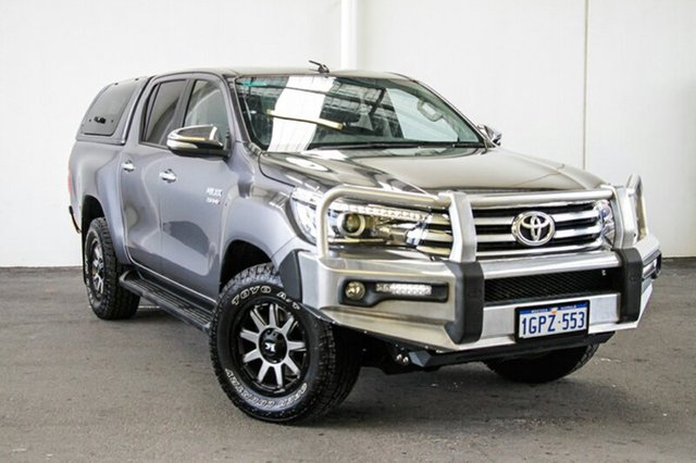 Used Toyota Hilux GUN126R SR5 Double Cab, 2016 Toyota Hilux GUN126R SR5 Double Cab Graphite 6 Speed Manual Utility