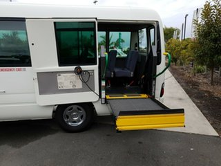 2010 Toyota Coaster XZB50R WHEEL CHAIR BUS White Bus