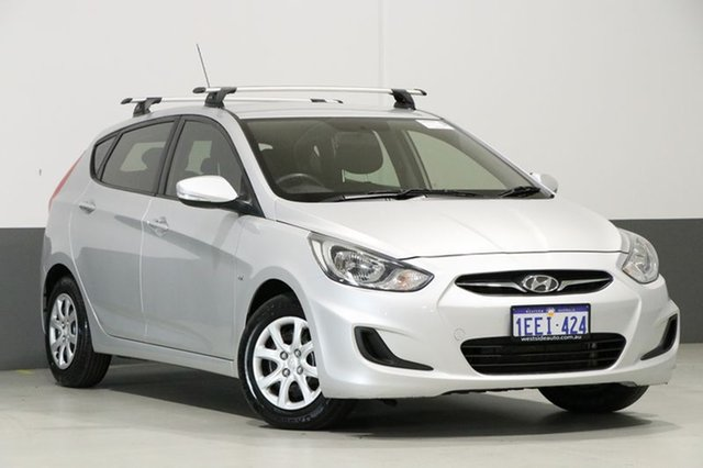 Used Hyundai Accent RB Active, 2013 Hyundai Accent RB Active Silver 5 Speed Manual Hatchback